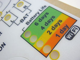 Labels made with Lexan film used for professionnal stickers